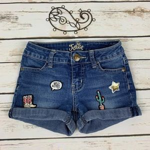 Justice Girl's Jean Shorts 8 Slim Cuffed